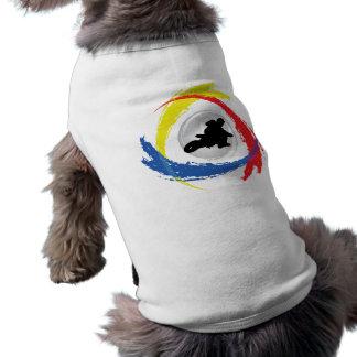 Motocross-Tricolor Emblem Shirt