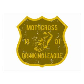 Motocross-trinkende Liga Postkarte