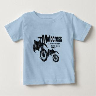 Motocross-Vater/Sohn Baby T-shirt