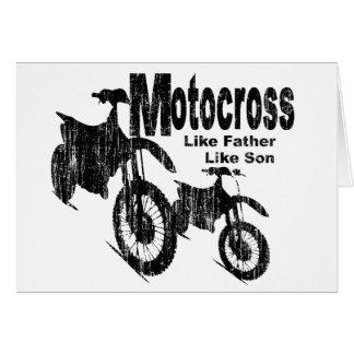 Motocross-Vater/Sohn Karte