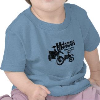 Motocross-Vater/Sohn Tshirt