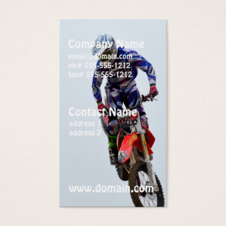 Motocross Visitenkarte