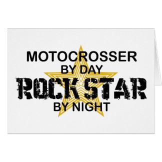 Motocrosser Rockstar bis zum Nacht Karte