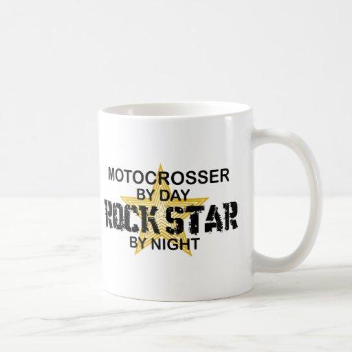 Motocrosser Rockstar bis zum Nacht Haferl