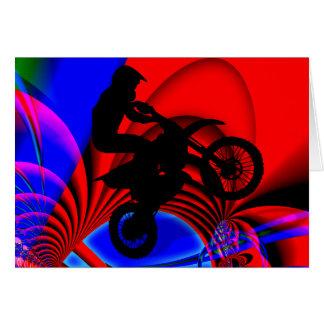 Motocrossing, das verworren geht grußkarte
