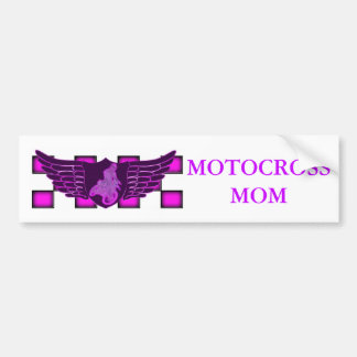 Motocroßmammaflügel und -Zielflagge Autoaufkleber