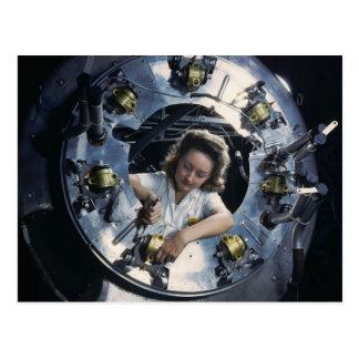 Motor-Dame des Bomber-B-25, 1942 Postkarte
