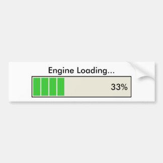 Motor, der 33 Prozent lädt Autoaufkleber