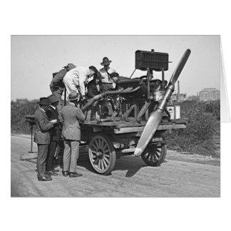Motor-Test 1922 Riesige Grußkarte
