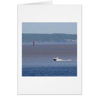 Motorboot auf der Severn Mündung Karte