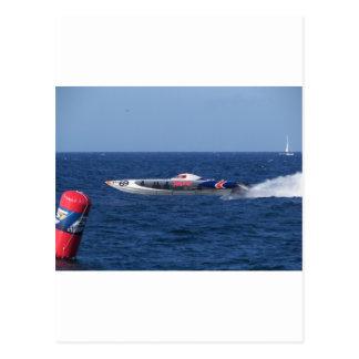 Motorboot Postkarte