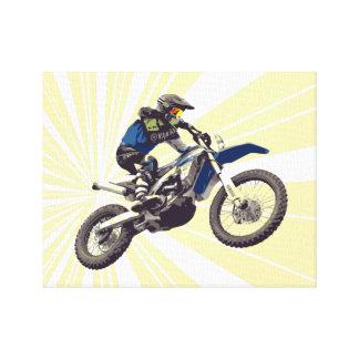 Motorcross Reiter in der Aktion Leinwanddruck