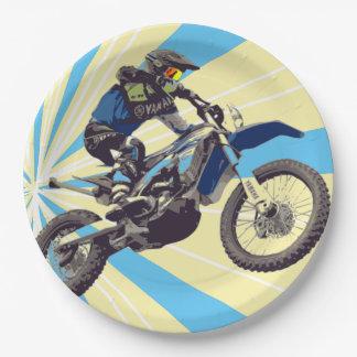 Motorcross Reiter-Papier-Teller 9 Zoll Pappteller