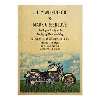 Motorcyle Hochzeits-Einladungs-Vintages Karte