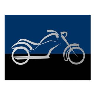 motorcyle Motorrad-Fahrradradfahrer Postkarte