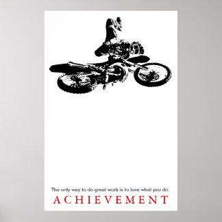Motorcyle Sport-Leistungs-Zitat motivierend Poster