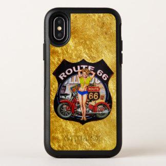 Motorrad Amerika-Weges 66 mit einer OtterBox Symmetry iPhone X Hülle