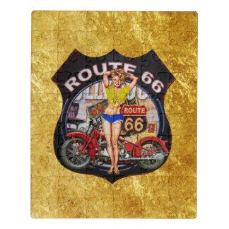 Motorrad Amerika-Weges 66 mit einer Puzzle