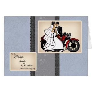 Motorrad-Braut-und Bräutigam-Glückwunsch-Karte