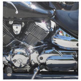Motorrad chromierte Seitenansicht des Stoffserviette