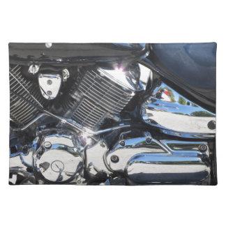 Motorrad chromierte Seitenansicht des Stofftischset