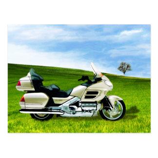 Motorrad Cindy Johnson Postkarte