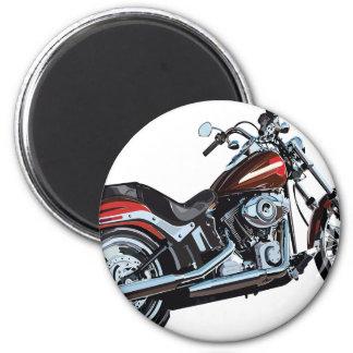 Motorrad-Fahrrad-Radfahrer Runder Magnet 5,7 Cm