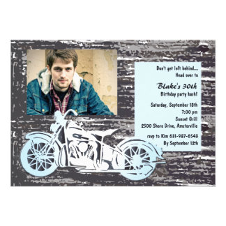 Motorrad-Foto-Einladung