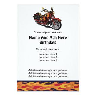 Motorrad-Geburtstag lädt ein 12,7 X 17,8 Cm Einladungskarte