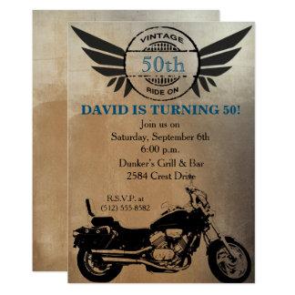 Motorrad-Geburtstags-Einladung Karte