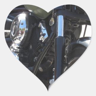 Motorrad im Parkplatz. Draußen Lebensstil Herz-Aufkleber