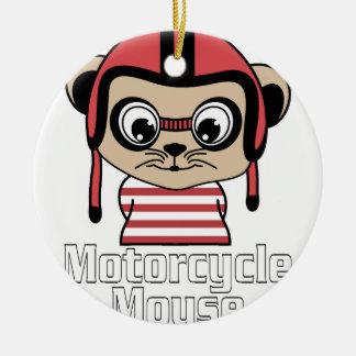 Motorrad-Maus, Vintager Entwurf des Raten-Cartoon Keramik Ornament