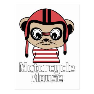 Motorrad-Maus, Vintager Entwurf des Raten-Cartoon Postkarte