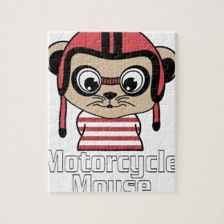 Motorrad-Maus, Vintager Entwurf des Raten-Cartoon Puzzle