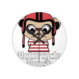 Motorrad-Maus, Vintager Entwurf des Raten-Cartoon Runde Wanduhr