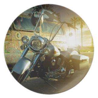 Motorrad Melaminteller