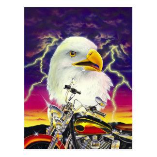 Motorrad mit amerikanischem Adler Postkarte