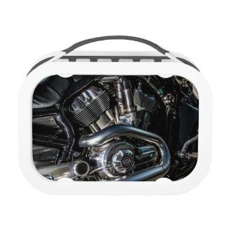 Motorrad-Motor-Mittagessen-Kasten