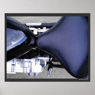 Motorrad-Motorrad zerteilt Sitzkraftstofftank-Foto Poster