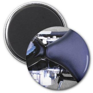 Motorrad-Motorrad zerteilt Sitzkraftstofftank-Foto Runder Magnet 5,1 Cm