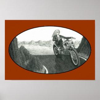 Motorrad-Mutter Plakatdruck