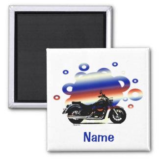 Motorrad-Namensmagnet Quadratischer Magnet