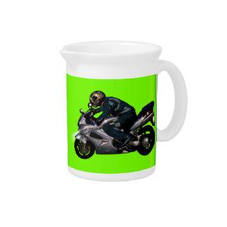 Motorrad-Power-Radfahrer-Transport-Geschenk Getränke Pitcher