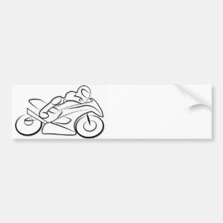 Motorrad Rennen fahren Autoaufkleber