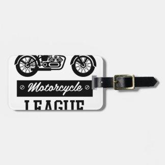 Motorrad-Sammlungslogos Gepäckanhänger