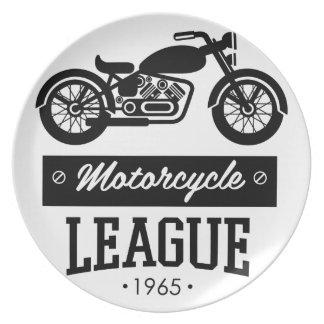 Motorrad-Sammlungslogos Melaminteller