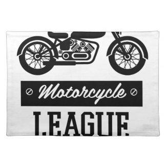 Motorrad-Sammlungslogos Stofftischset