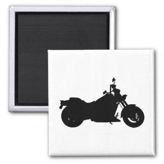 Motorrad-Silhouette Quadratischer Magnet