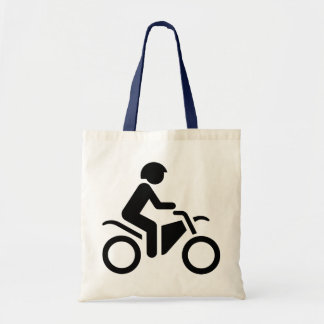 Motorrad-Symbol Budget Stoffbeutel