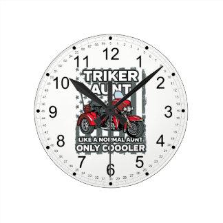 Motorrad Triker Tante Runde Wanduhr